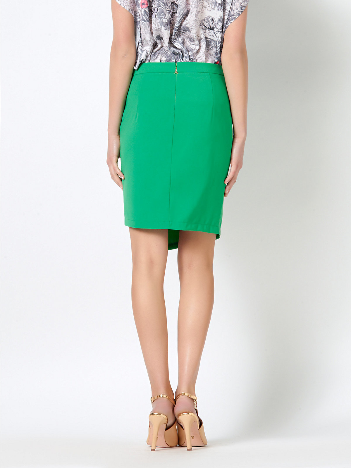 patrizia pepe pencil skirt in stretch fabric in green lyst