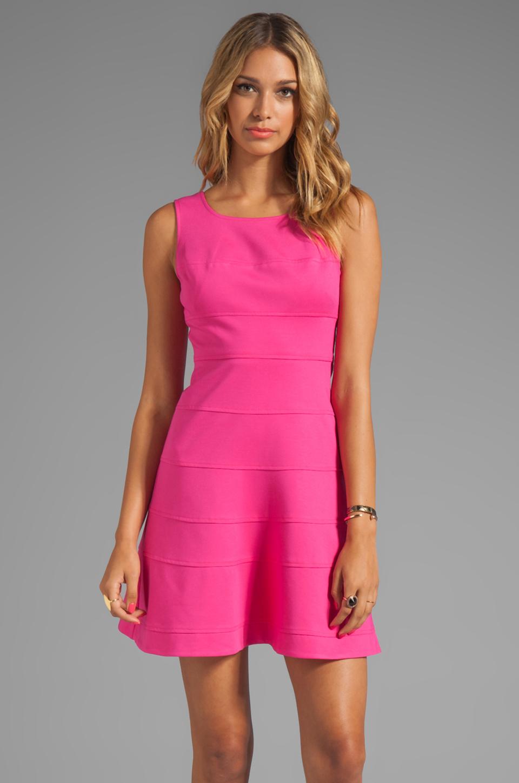 Trina turk Tropical Ponte Nikola Tank Dress in Pink in Pink | Lyst