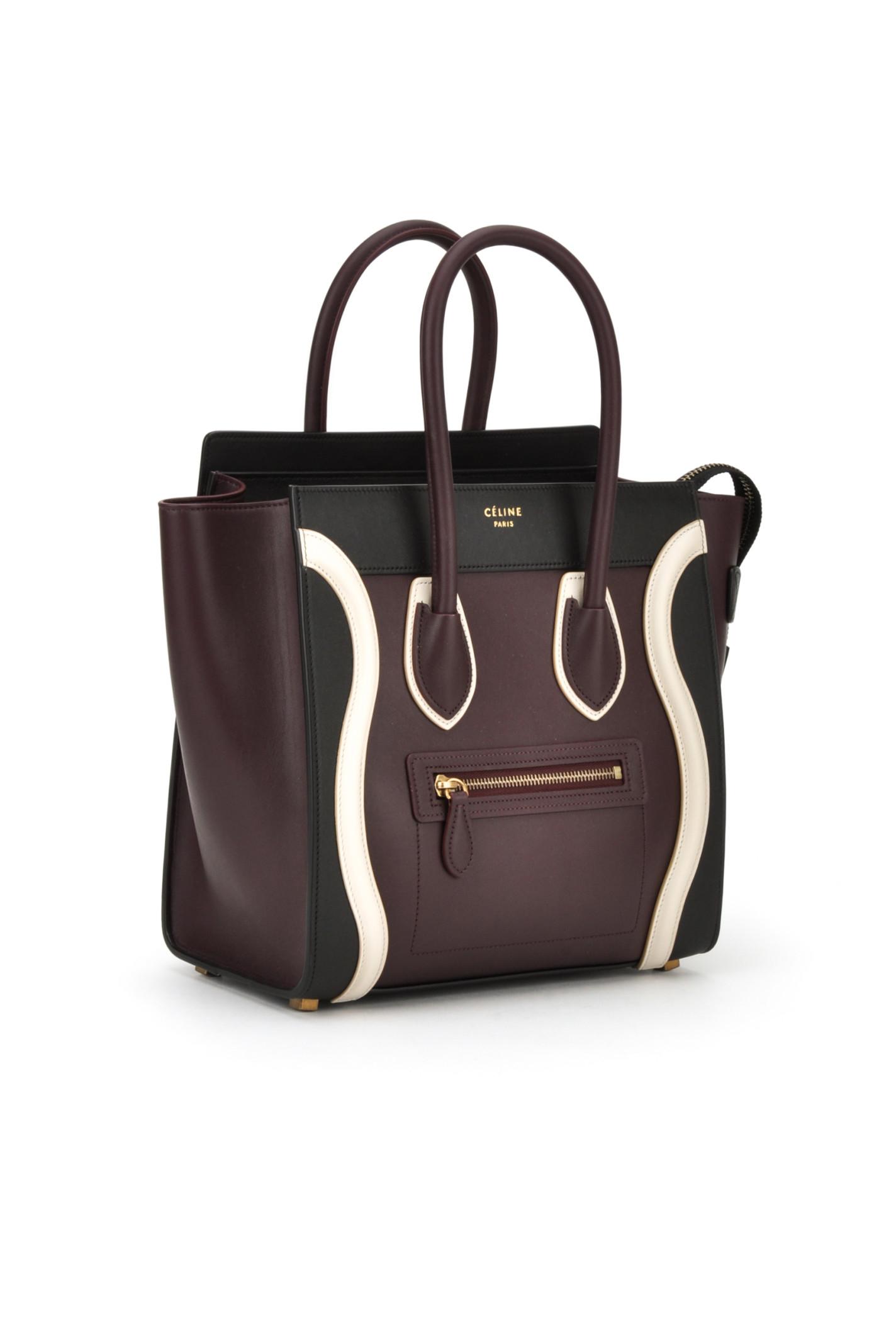 celine luggage leather bowling bag