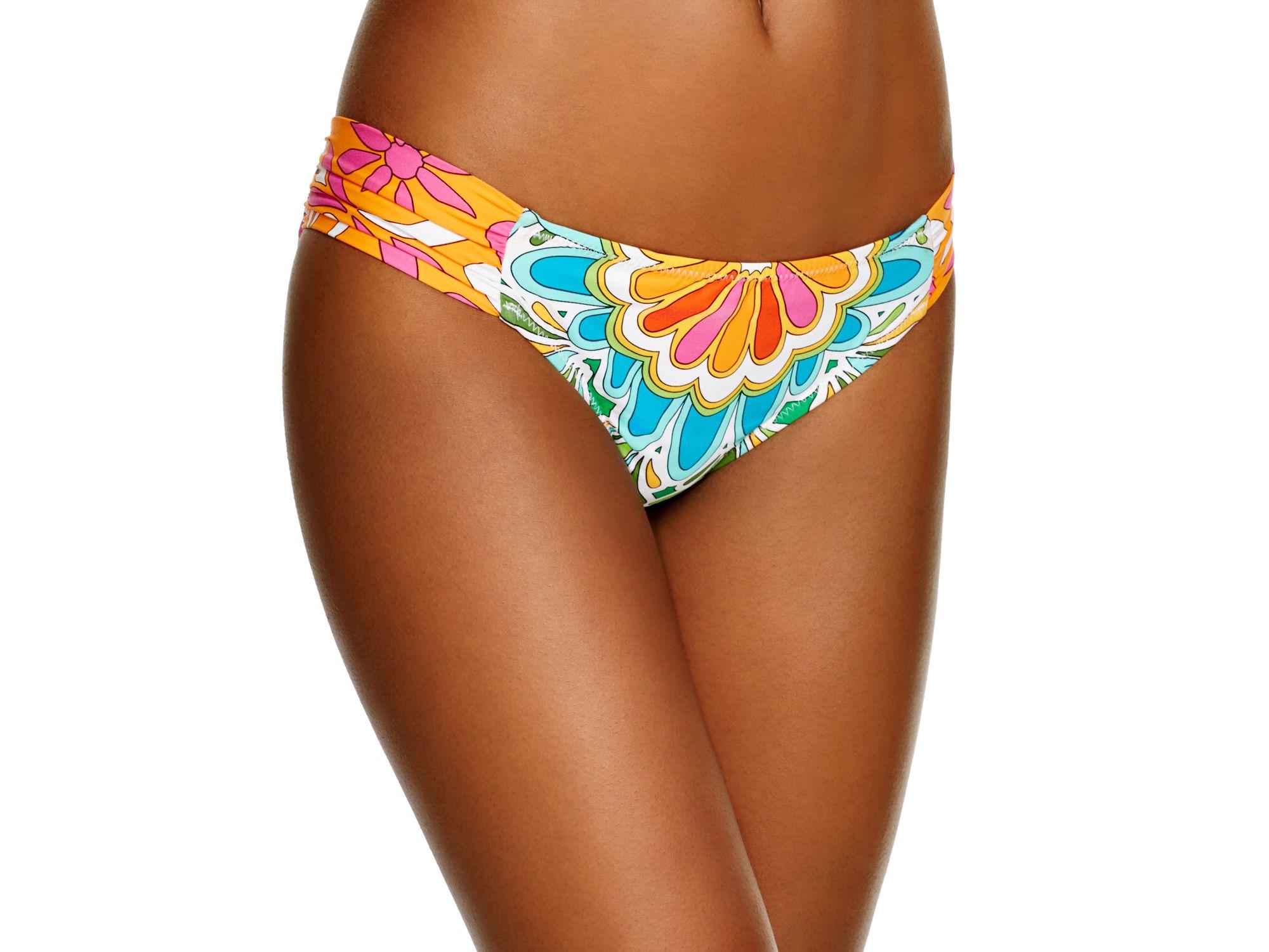 22405131dd Trina Turk Tamarindo Shirred Hipster Bikini Bottom - Lyst