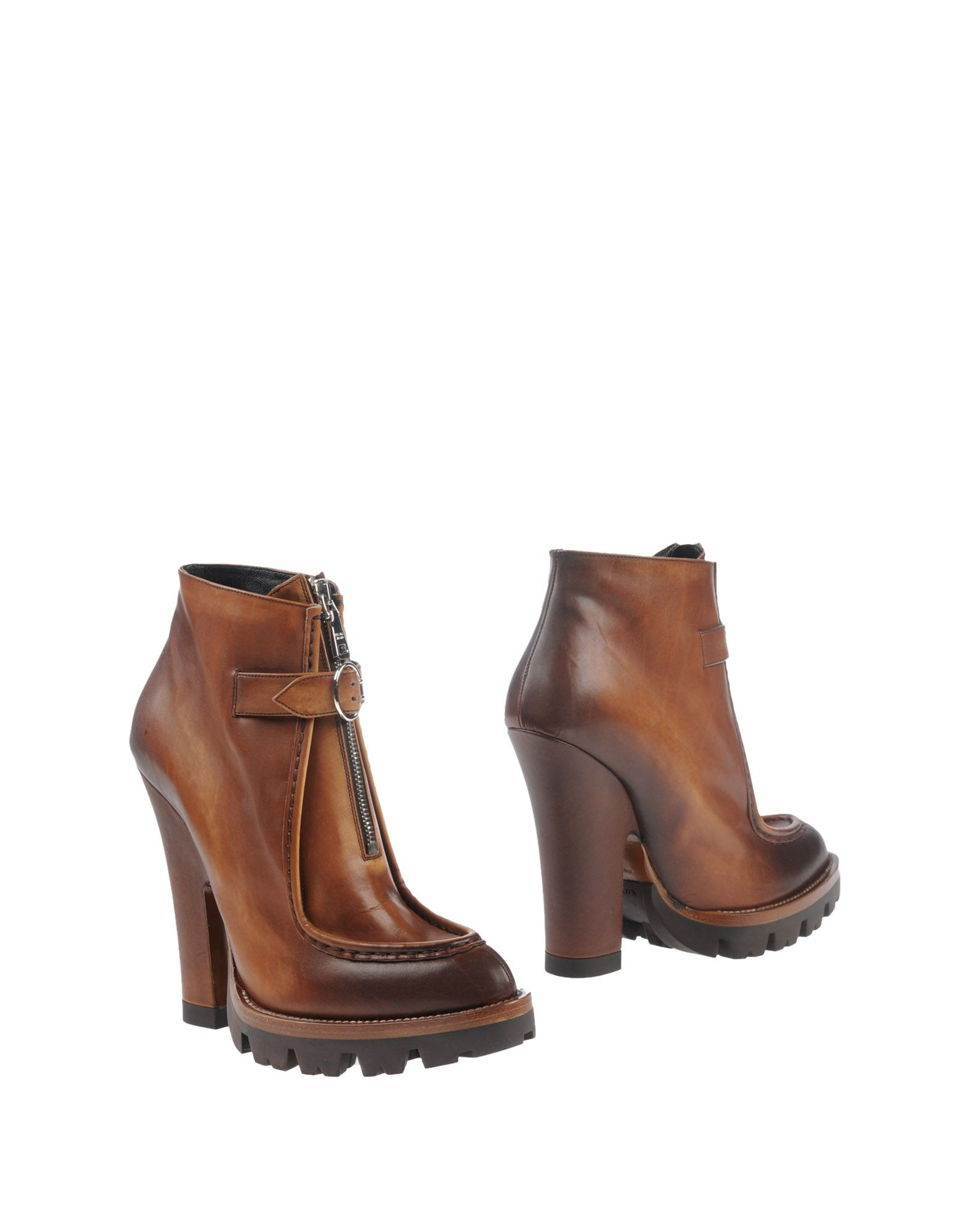 Prada Ankle Boots in Brown | Lyst