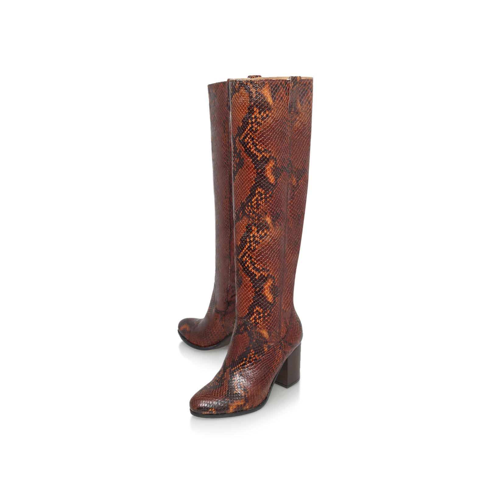 carvela kurt geiger wallace mid block heel knee high boots
