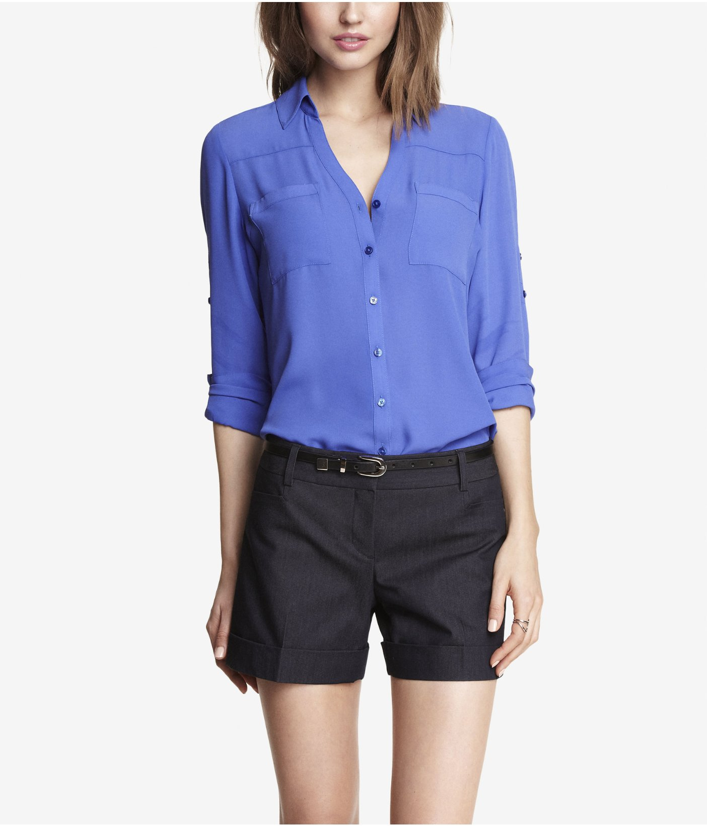 947d5d5f29b9 ... express the convertible sleeve portofino shirt in purple lyst ...