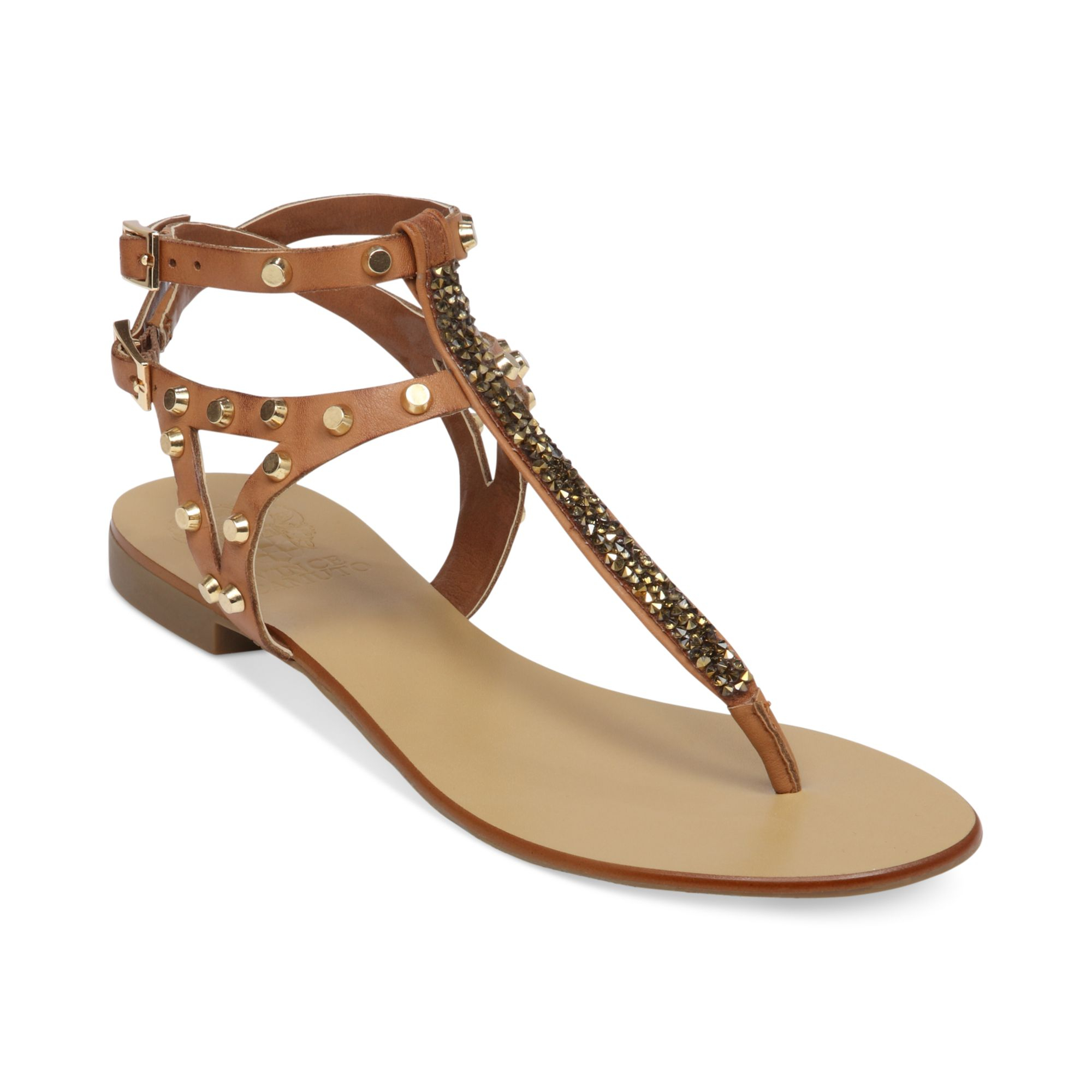 Vince Camuto Jemile Flat Thong Sandals In Beige Fudge Lyst