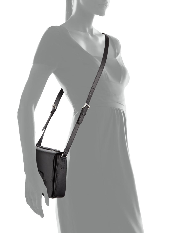 9c35d2e2ab46 ... coupon code for lyst prada saffiano small sound crossbody bag in black  97cac bd4e5