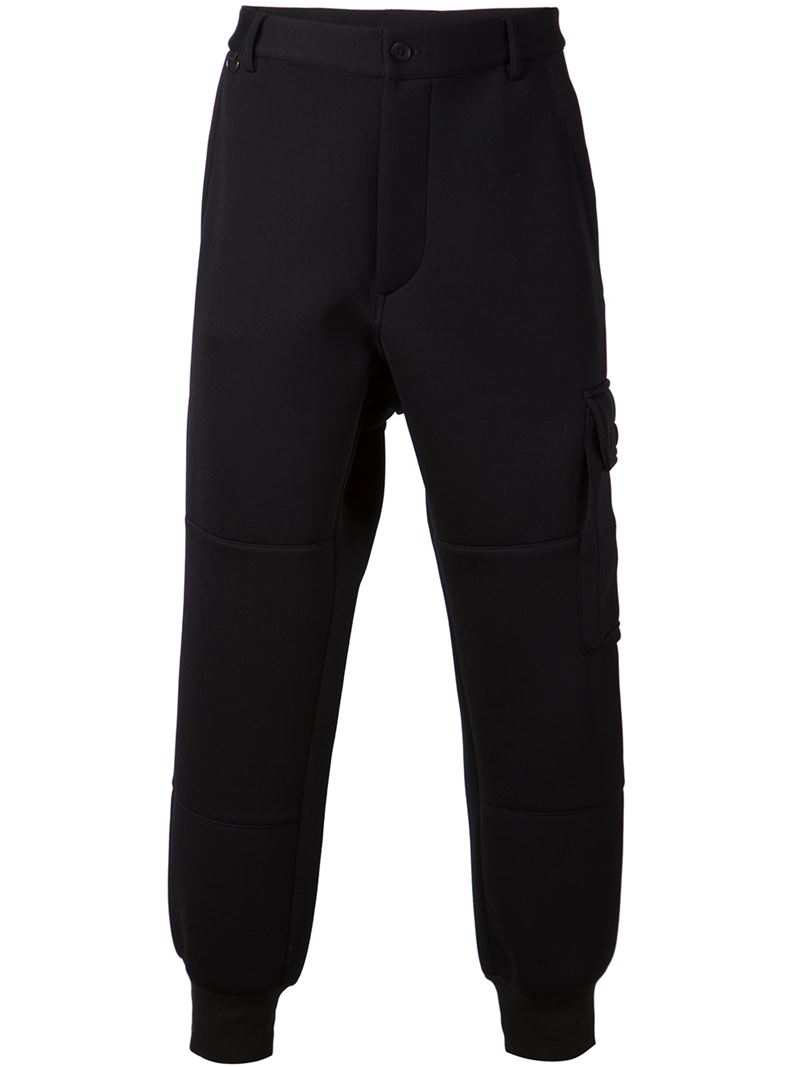 Y-3 Cargo Track Pants in Black for Men | Lyst