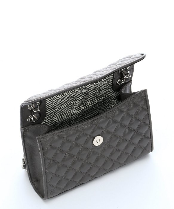 Lyst Rebecca Minkoff Charcoal Quilted Leather Mini