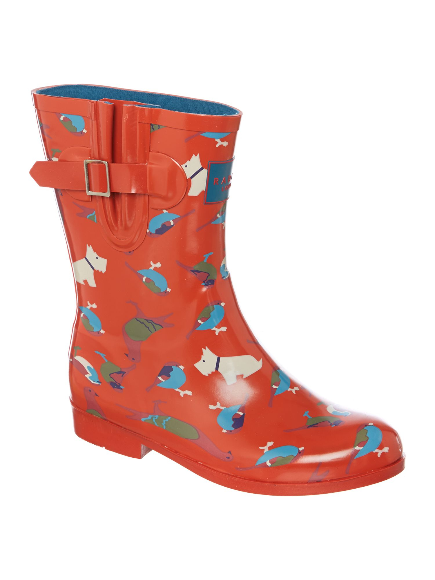 radley a little bird told me short welly in orange lyst gallery
