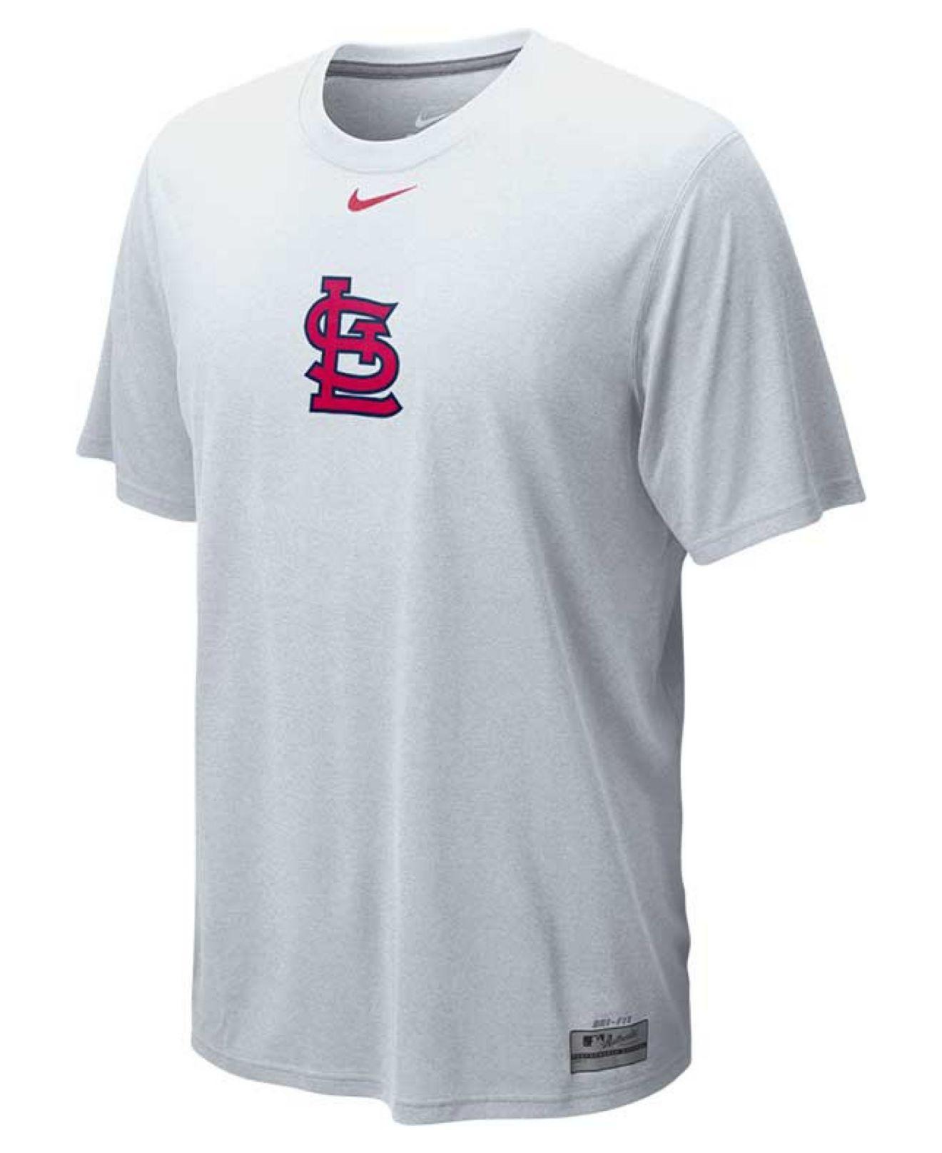 c02ea77cb9a Lyst - Nike Men s St. Louis Cardinals Dri-fit Logo Legend T-shirt in ...