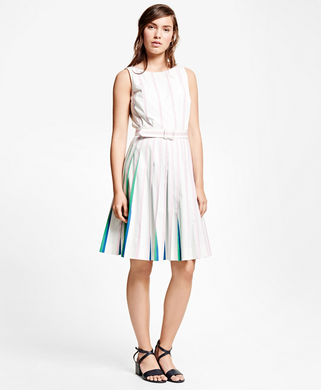 Buy Cheap Extremely Discount Codes Shopping Online Brooks Brothers Sleeveless Knee-Length Dress Sale Hot Sale Discount Wholesale Price 82nuP