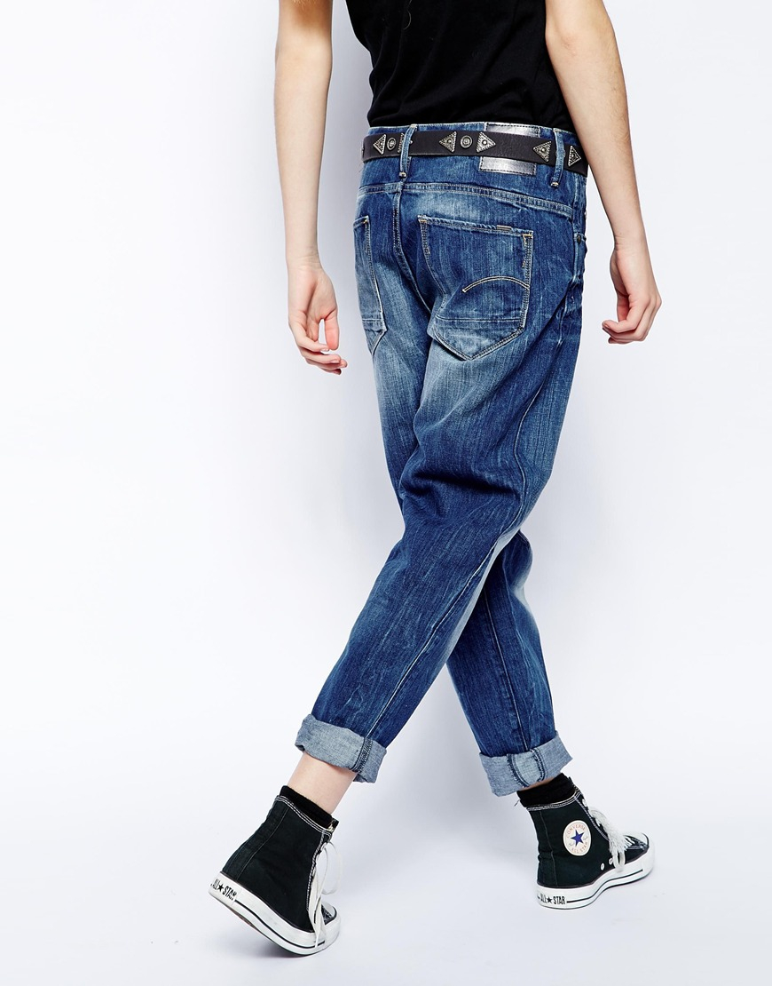 g star raw g star arc 3d loose boyfriend jeans in blue lyst. Black Bedroom Furniture Sets. Home Design Ideas