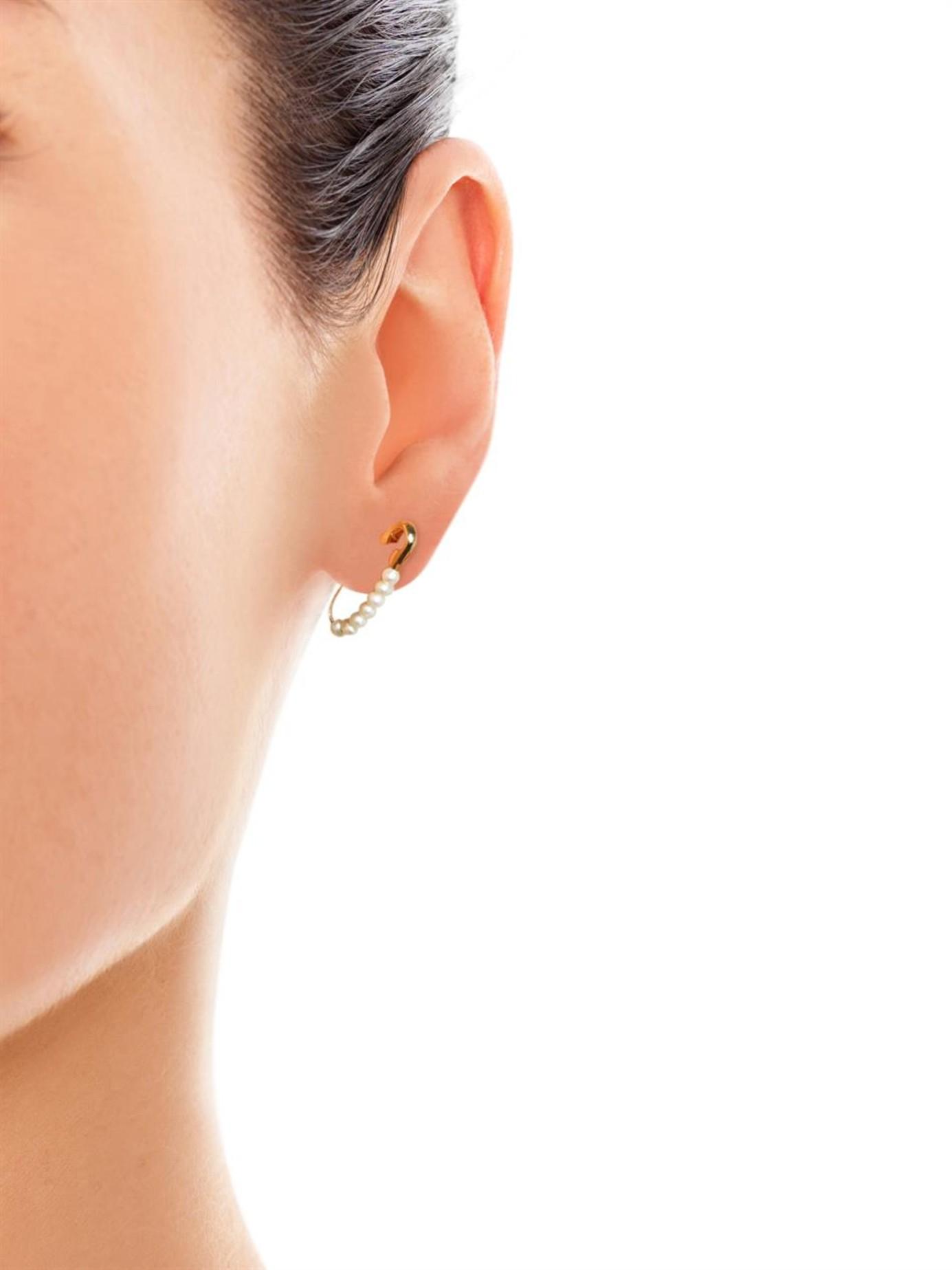 7a50e740281e0 Loren Stewart Safety Pin Earrings - Best All Earring Photos ...