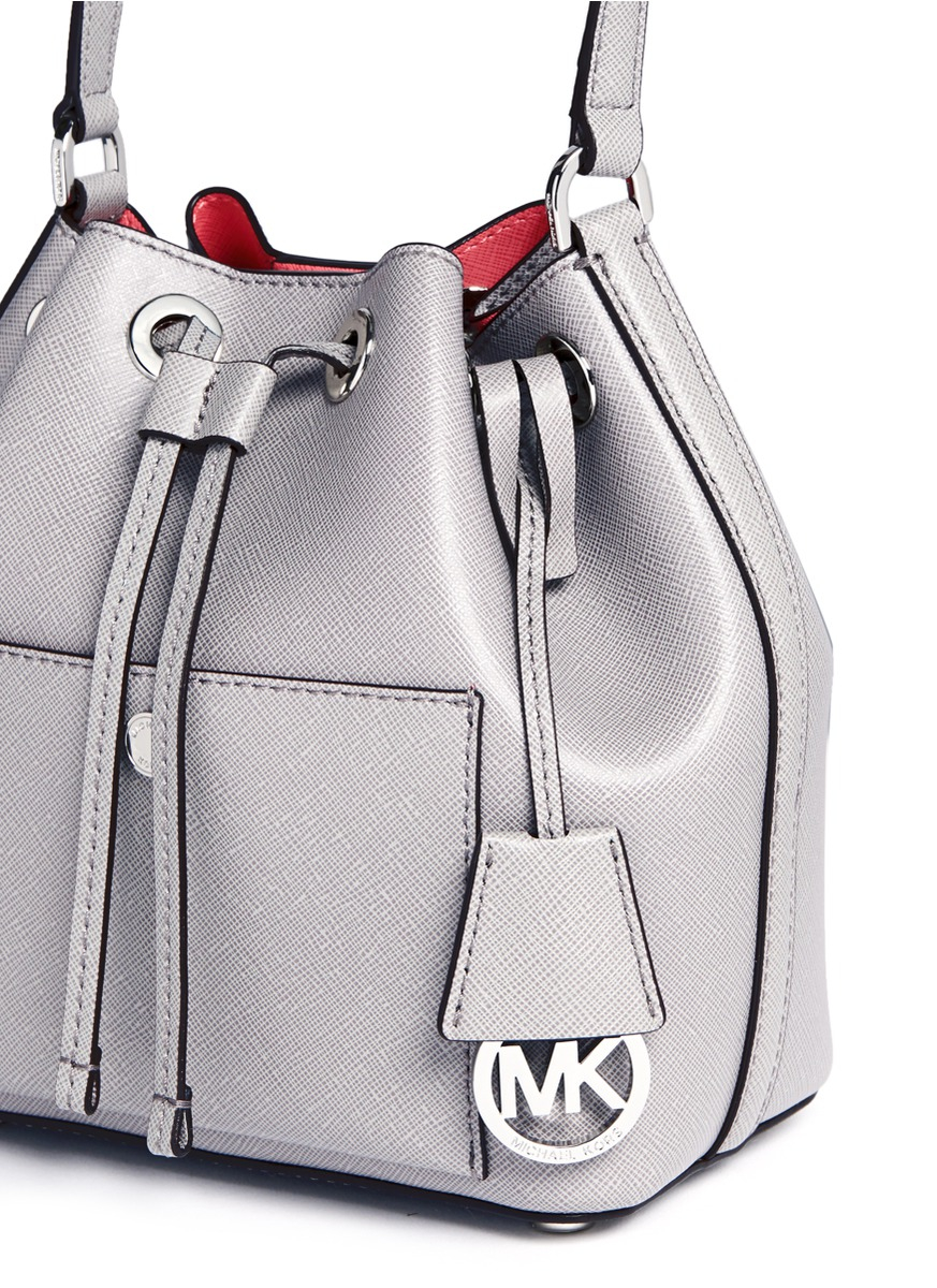 Lyst - Michael Kors  greenwich  Small Saffiano Leather Bucket Bag in ... e9282cb84006e