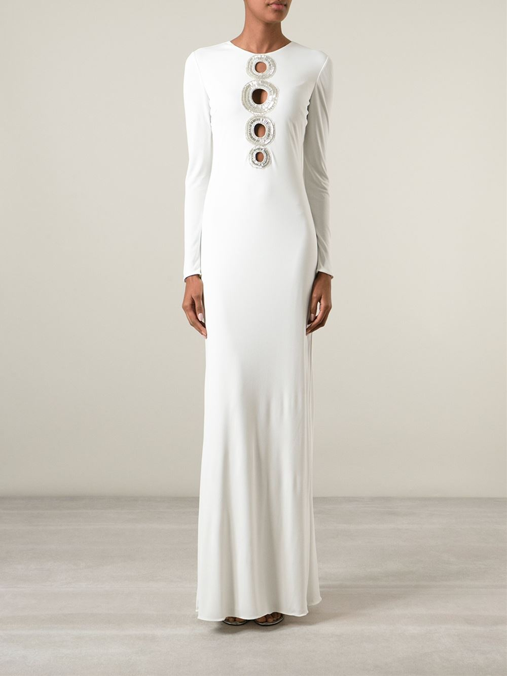 Emilio pucci Embellished Circle Dress in White | Lyst