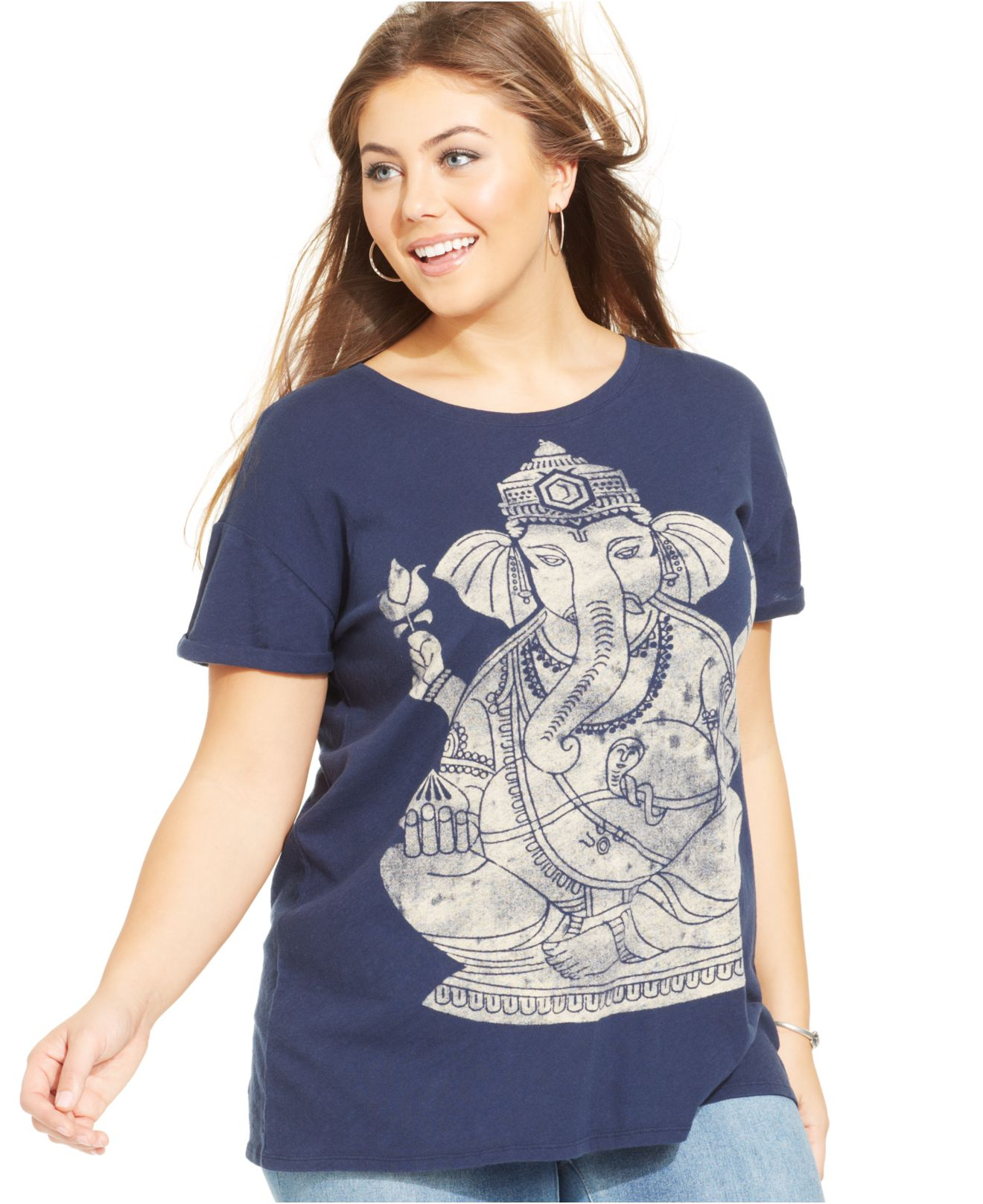 Lucky brand Lucky Brand Plus Size Short-Sleeve Graphic Tee in Blue ...