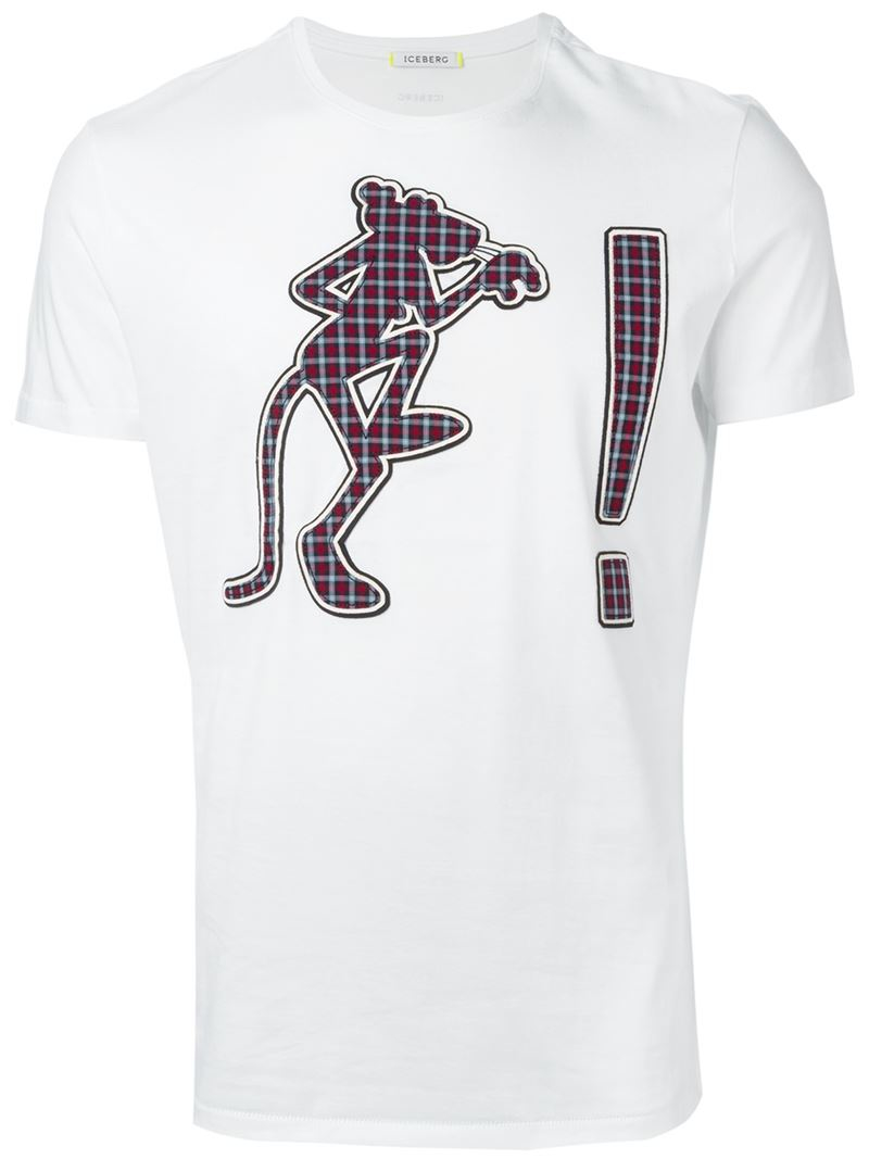 Populaire Iceberg Pink Panther Motif T-shirt in White for Men | Lyst CZ38