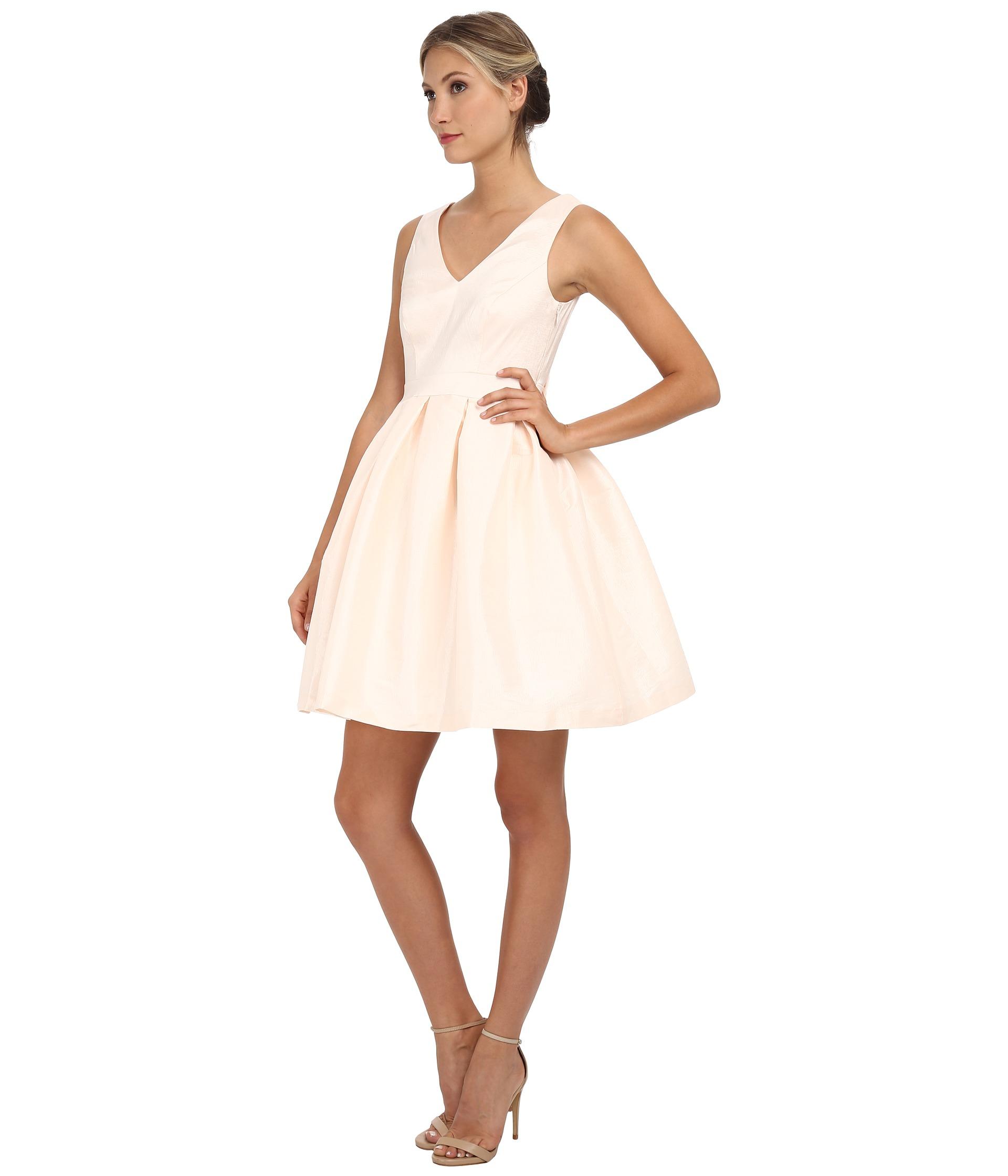 c48349925fcd Jessica Simpson Taffeta Fit & Flare Dress in Pink - Lyst