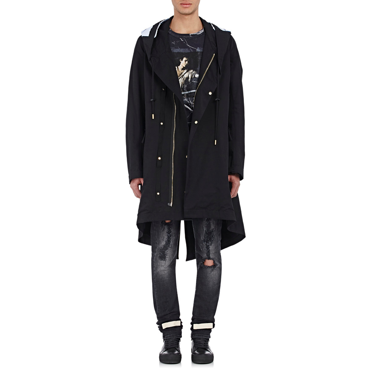 Off-white c/o virgil abloh Men's Twill Hooded Parka in Black for ...