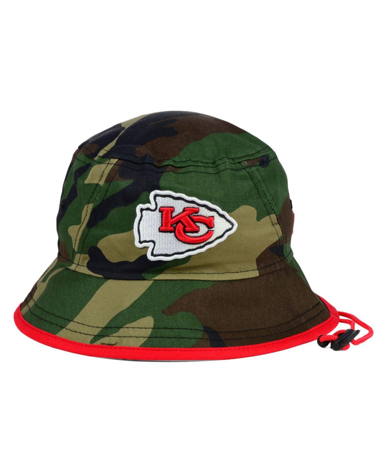best service f114f 7f771 KTZ Kansas City Chiefs Camo Pop Bucket Hat in Green for Men - Lyst