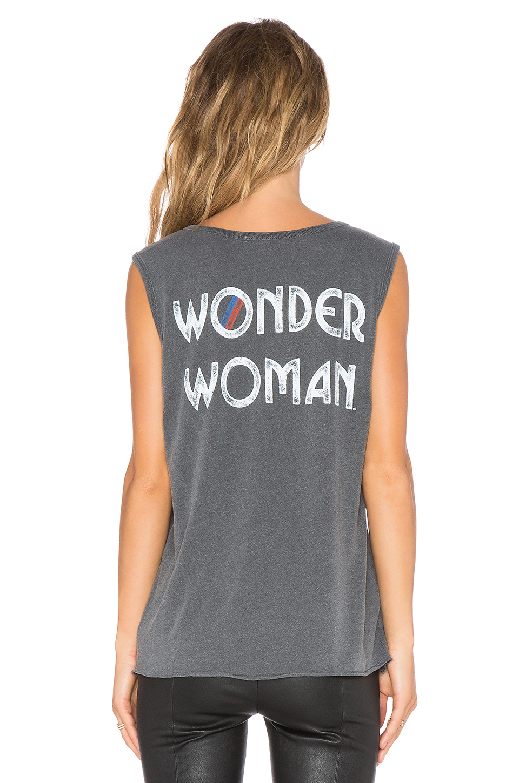 bd0729a5 Junk Food Wonder Woman Tank in Black - Lyst