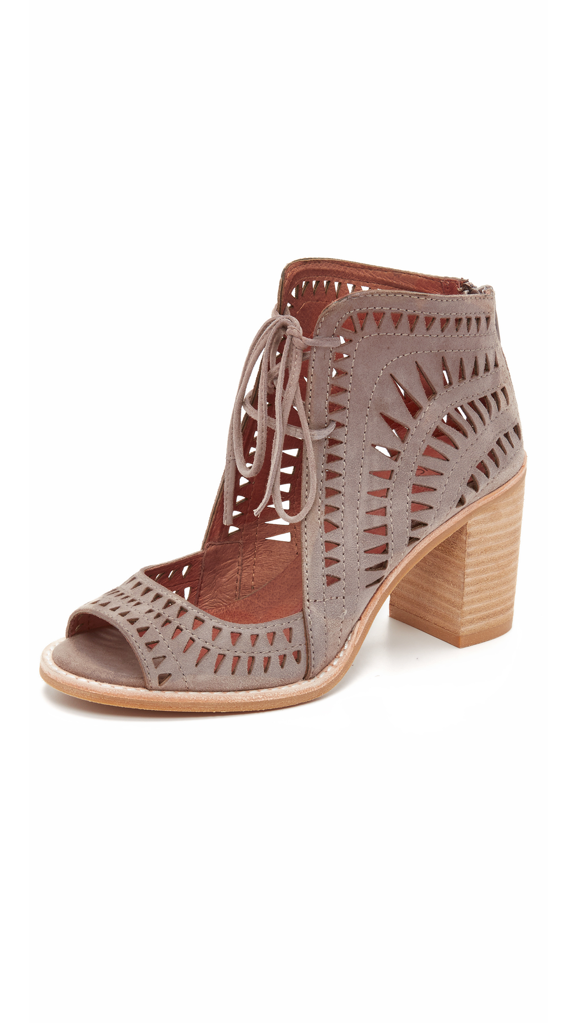 Jeffrey campbell cordillo sandals taupe in brown lyst Sdb chocolat taupe