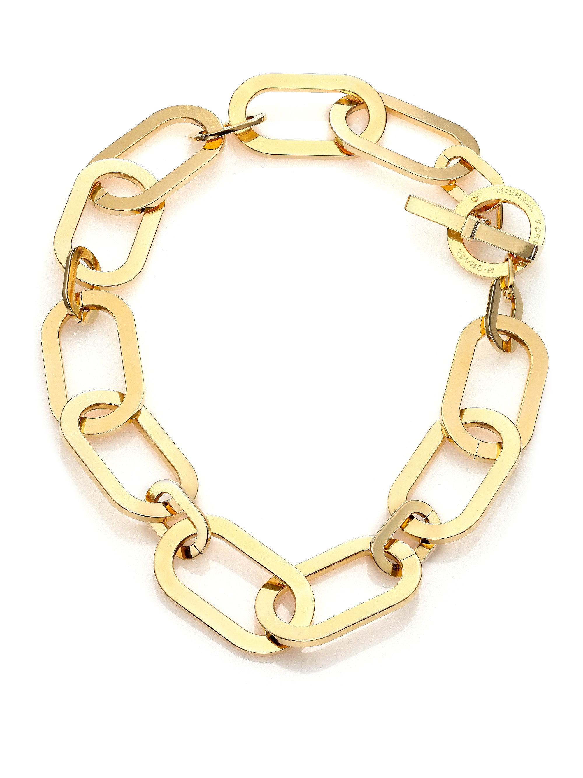 lyst kantis necklace large metallic jewelry gold in women chain coronation s stephanie