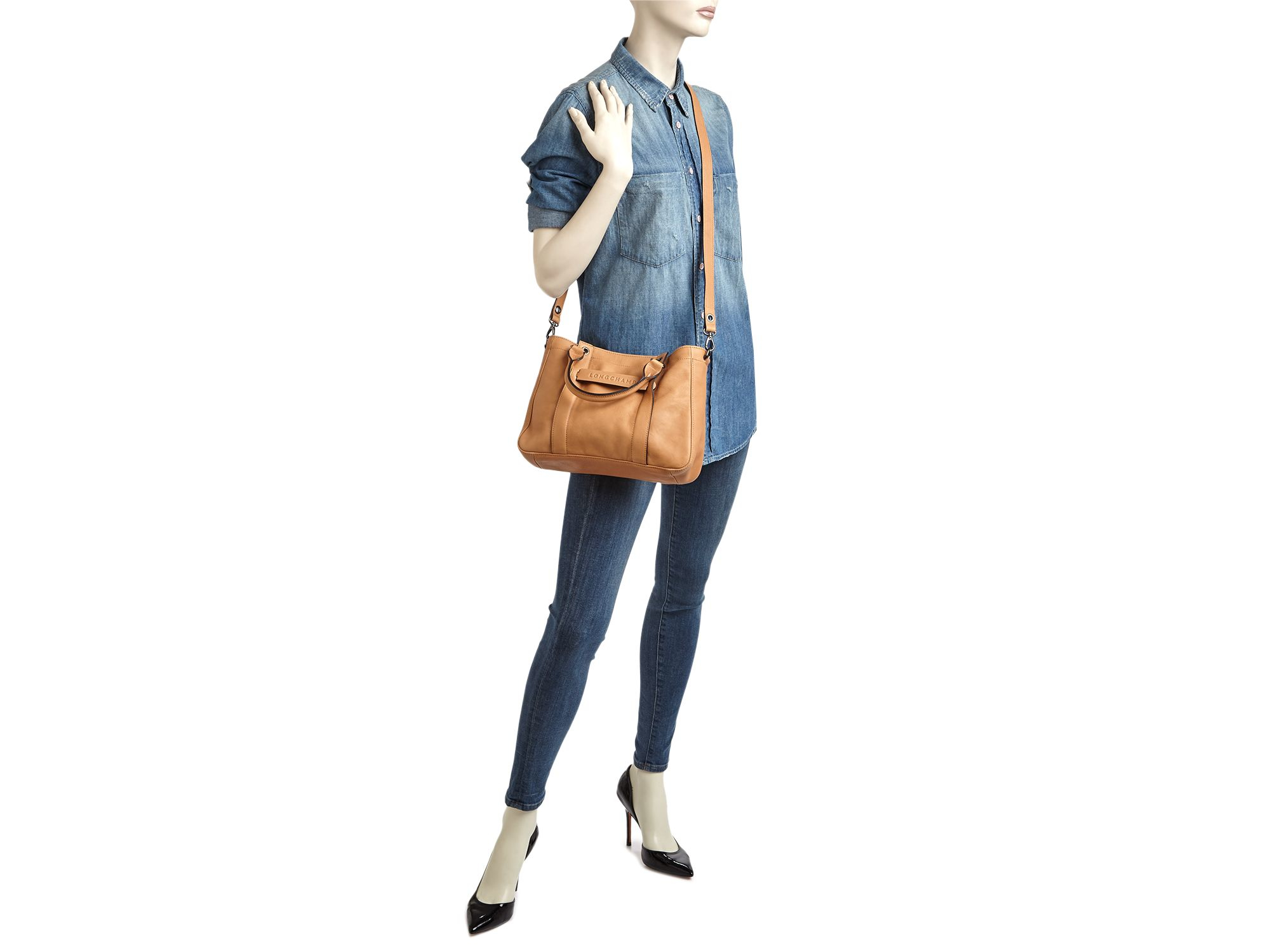 Lyst - Longchamp 3d Small Tote in Natural 2dc8add523