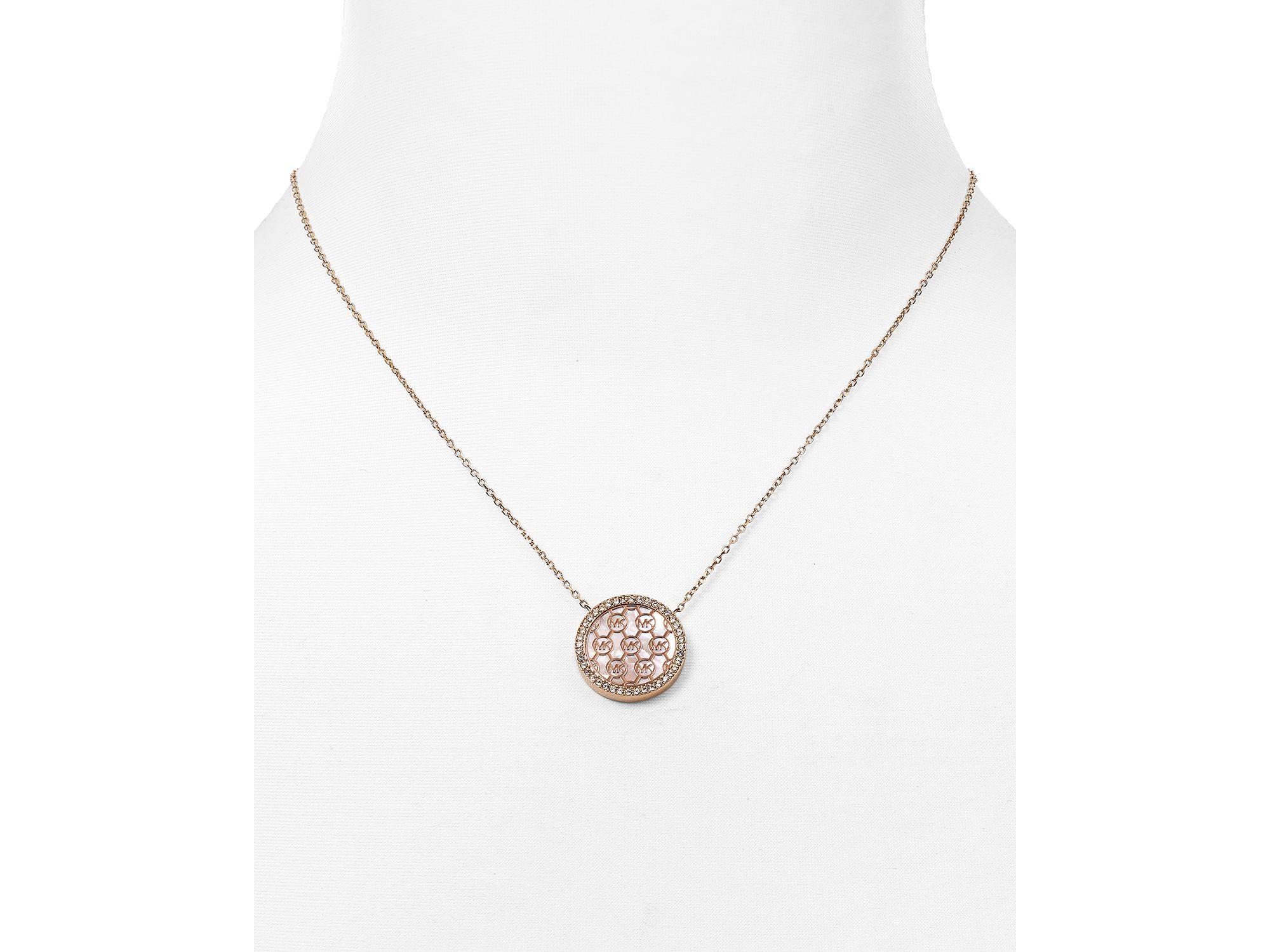 89d36799e50e Lyst Michael Kors 16quot In Metallic. SaveEnlarge · Michael Kors Gold Tone  Cubic Zirconia Logo Fulton Necklace