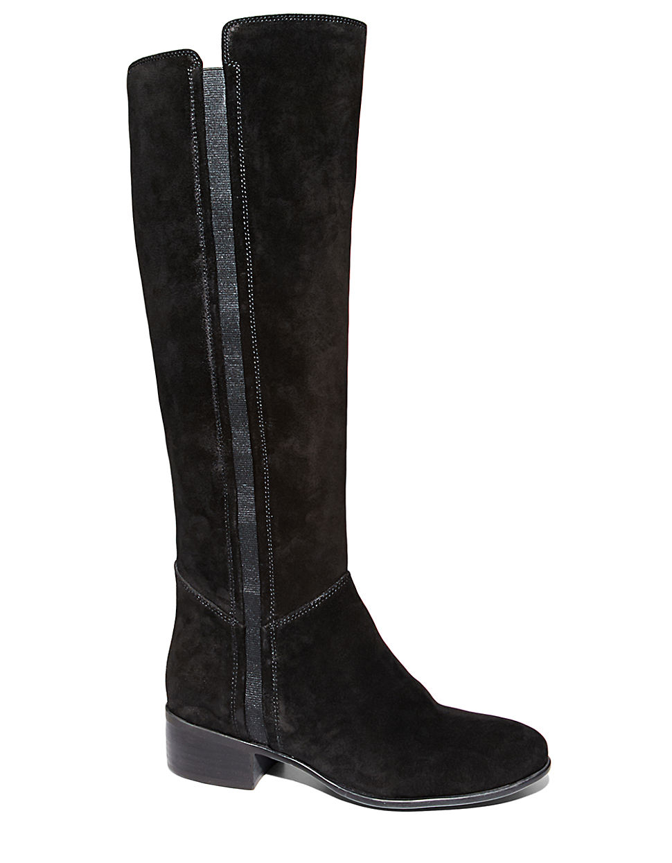 steve madden pullon suede knee high boots in black save