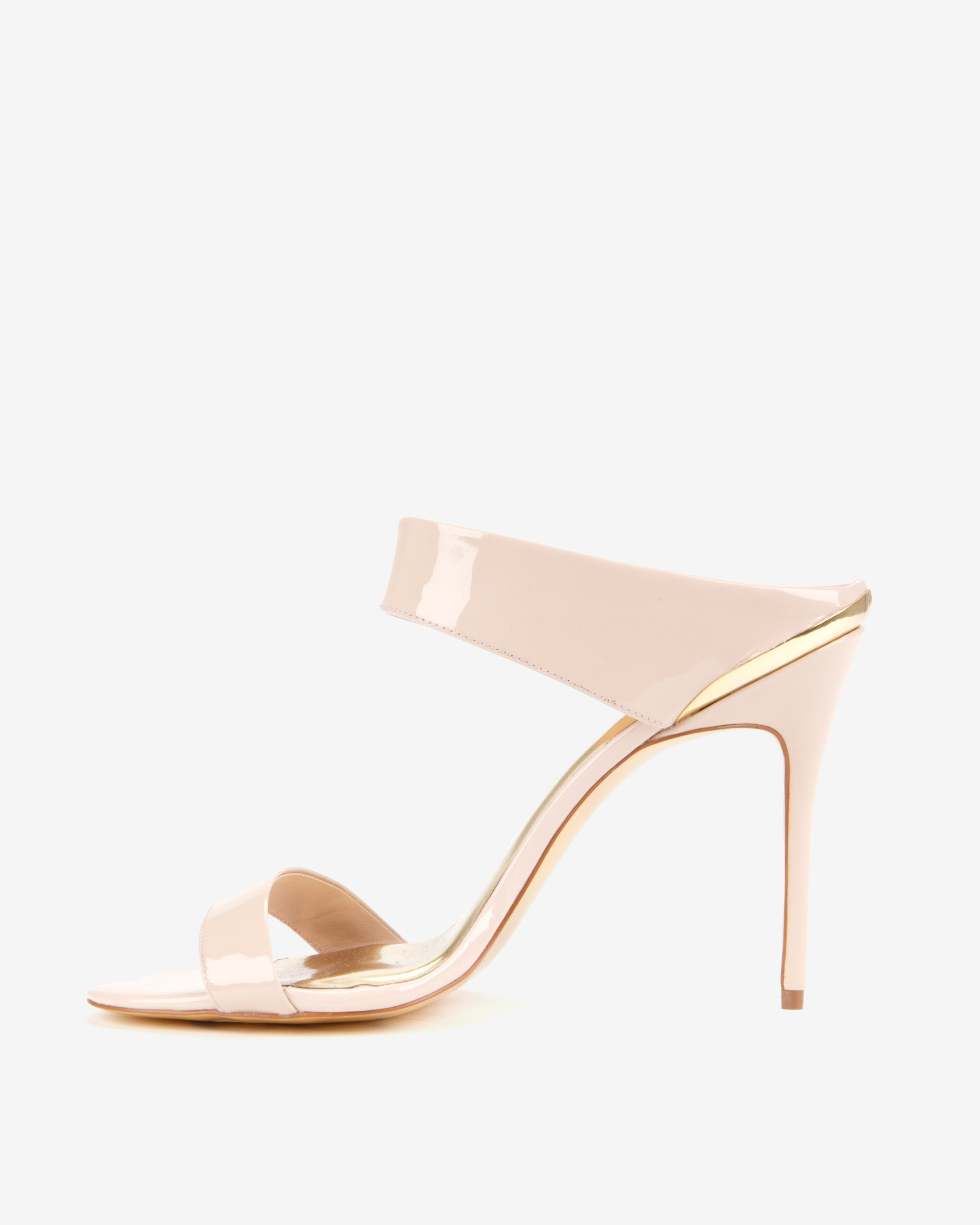 f13bc6433e52e6 Lyst - Ted Baker Heeled Mule Sandals in Natural