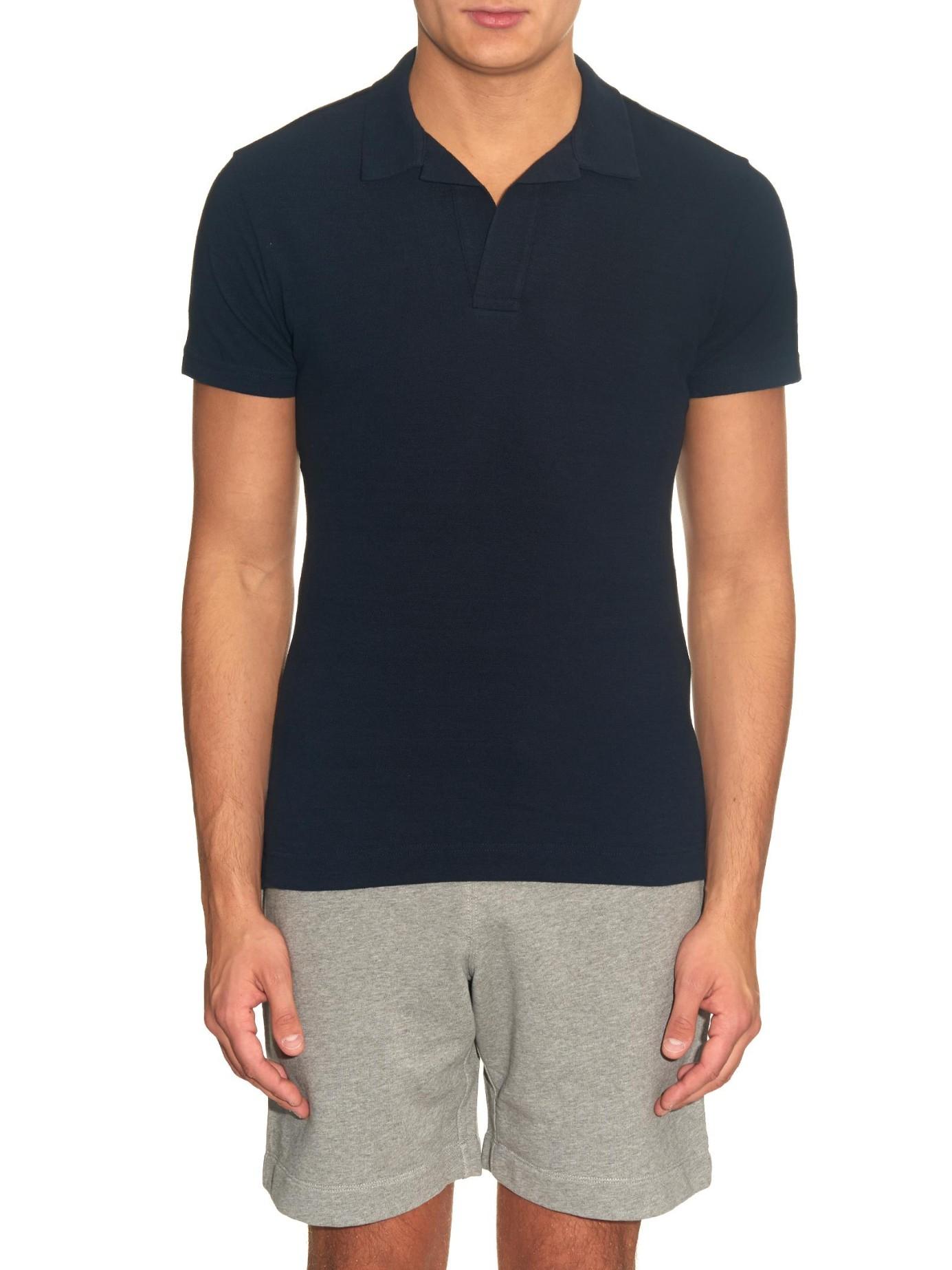 87723d6f Orlebar Brown Felix Cotton-Piqué Polo Shirt in Blue for Men - Lyst