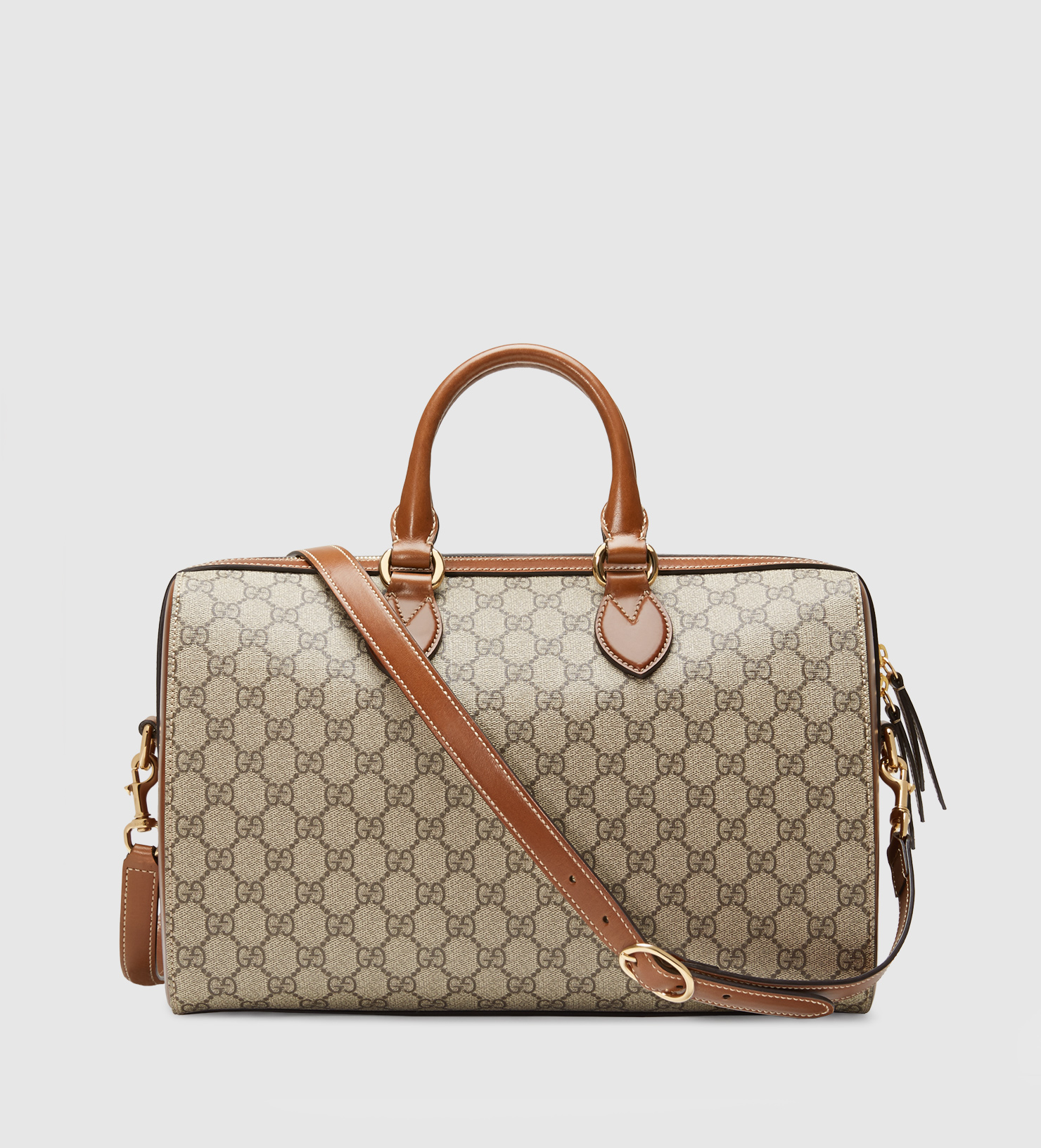 5ac0bbaf7 Gucci Gg Supreme Top Handle Bag in Gray - Lyst