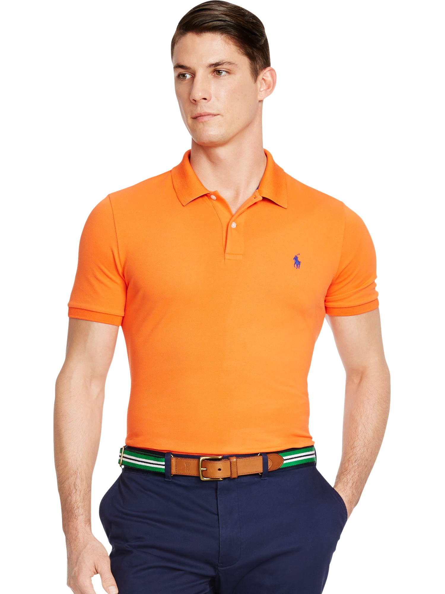 pink pony polo golf by short sleeve polo shirt in orange. Black Bedroom Furniture Sets. Home Design Ideas
