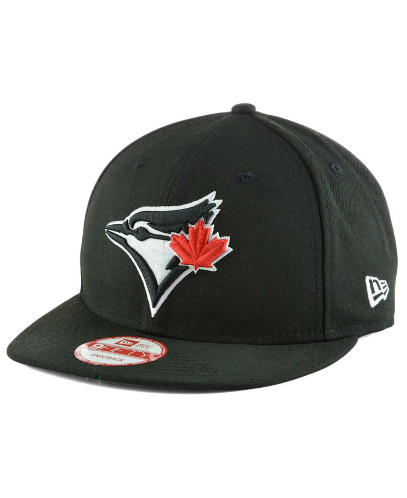 2e444b77af0533 ... discount lyst ktz toronto blue jays black white 9fifty snapback cap in  f84a9 ebcd7 ...
