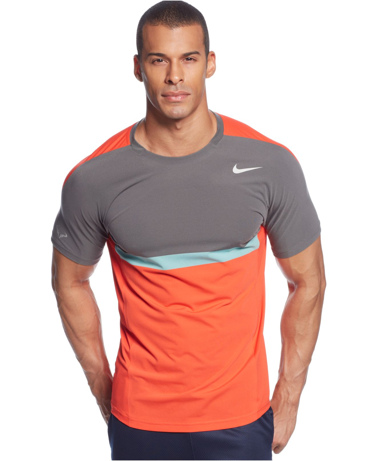 5ef342f33c34 Lyst - Nike Premier Rafa Performance T-Shirt in Orange for Men
