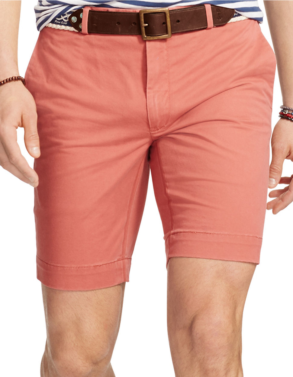 Polo ralph lauren Slim-fit Stretch-chino Shorts in Red for Men | Lyst