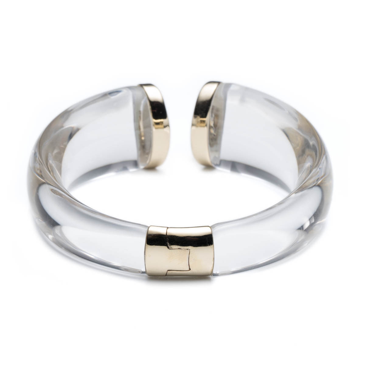 Lyst Alexis Bittar Lucite Mirrored Crescent Hinge Bracelet You