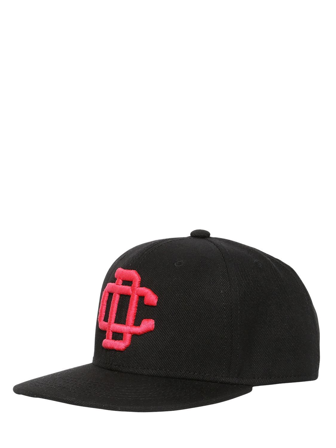 dsquared 178 logo embroidered cotton baseball hat in black