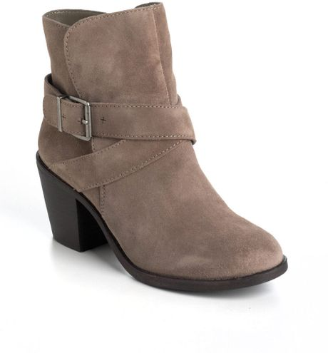 bcbgeneration aries suede ankle boots in beige lyst