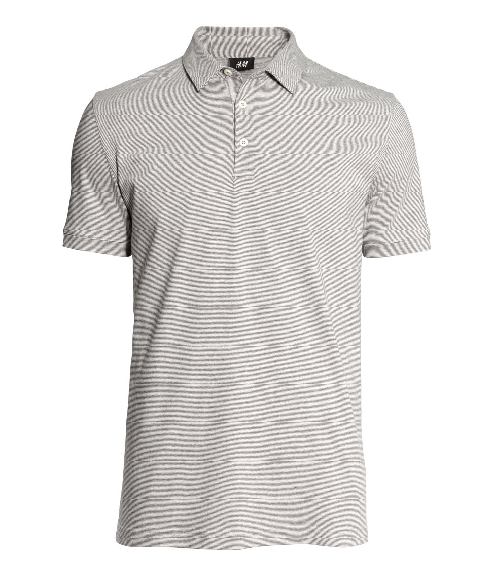 Lyst h m polo shirt in gray for men for H m polo shirt womens
