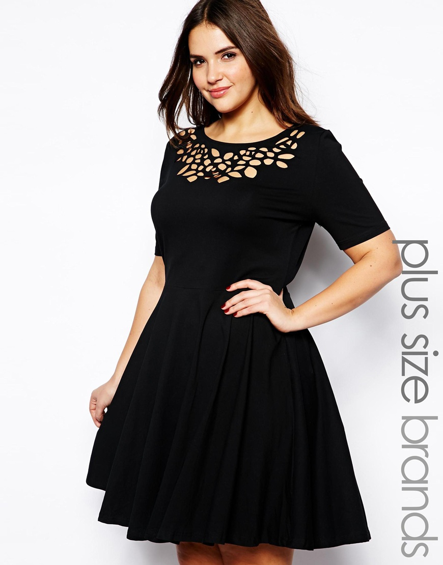 skater dress with sleeves plus size