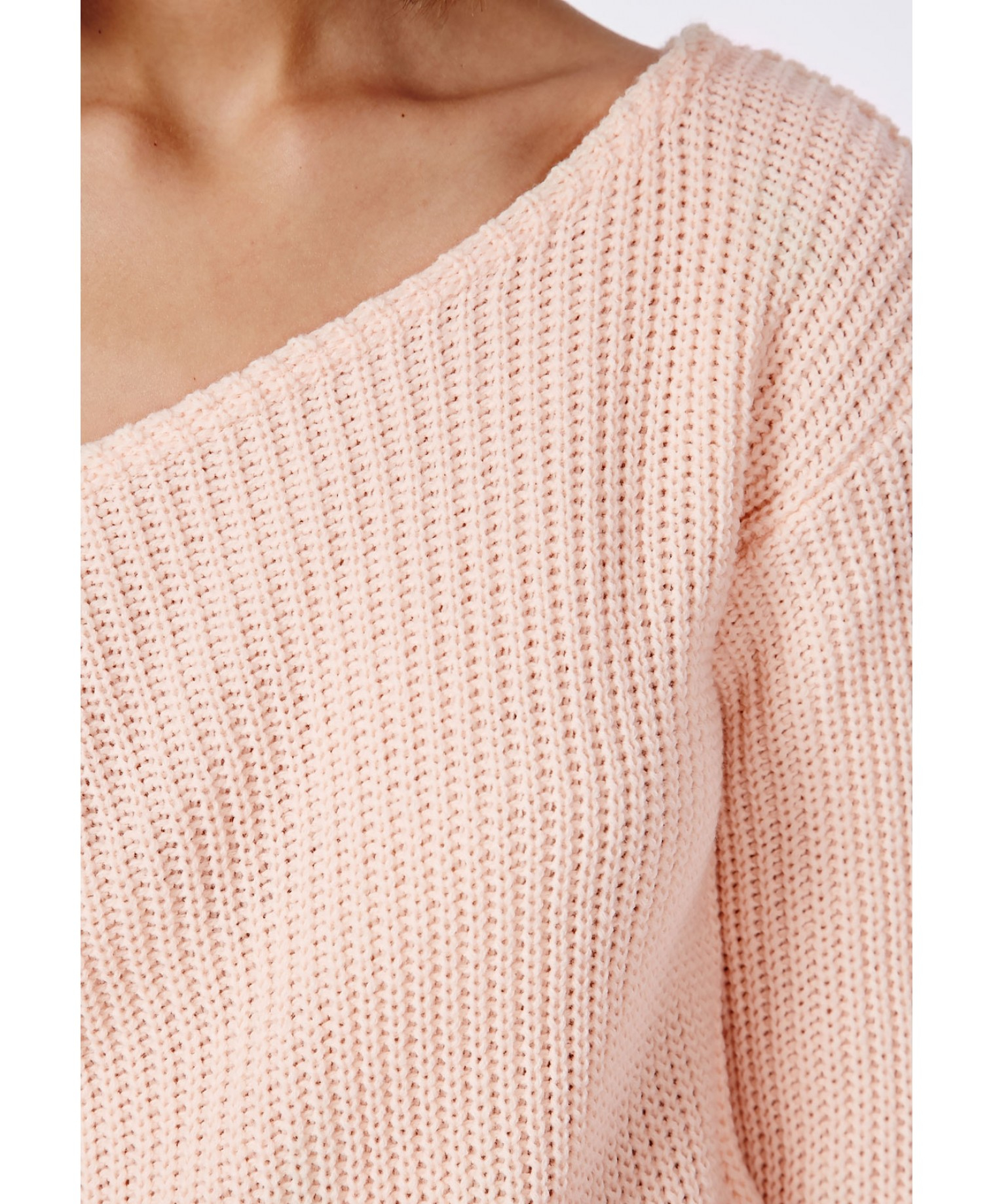 Missguided Ophelita Off Shoulder Sweater Soft Peach in Pink | Lyst
