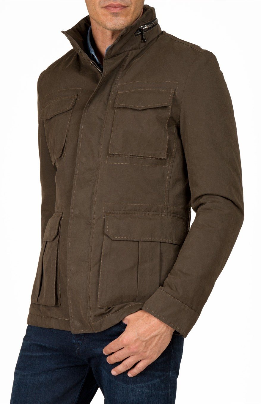7 for all mankind Field Jacket Dark Army in Brown for Men | Lyst