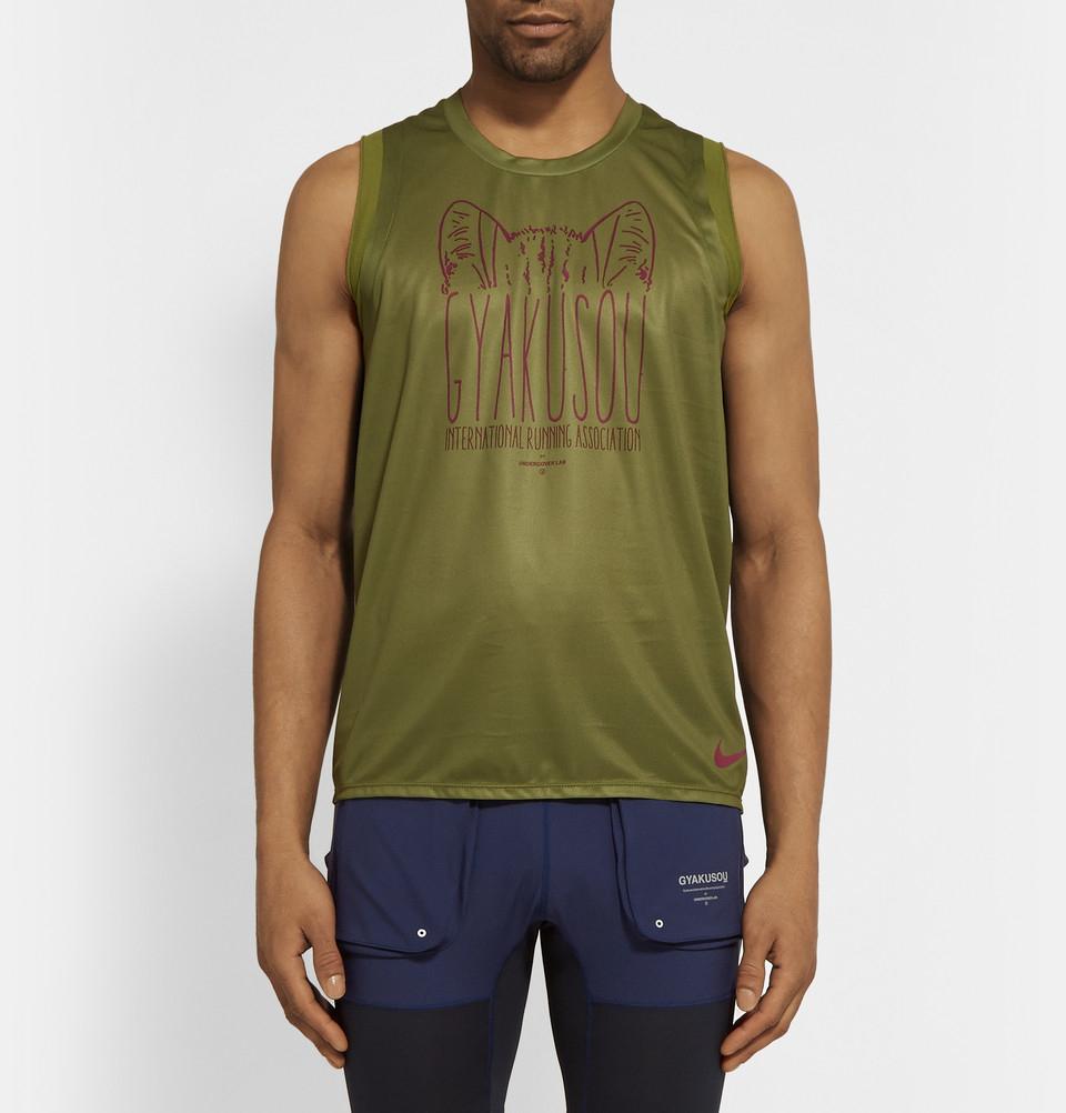 Lyst - Nike Gyakusou Dri-Fit Printed Tank in Green for Men 48303afc0cfb