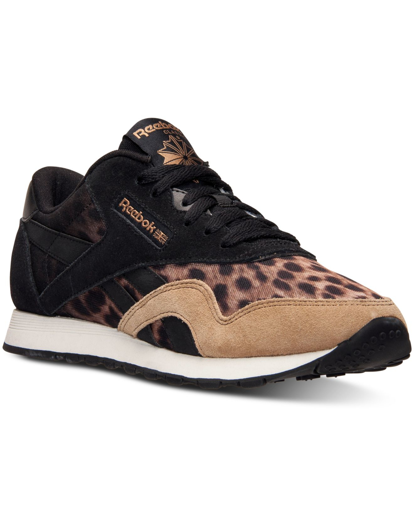 Lyst - Reebok Women s Classic Nylon Wild Casual Sneakers From Finish ... ffb242c79