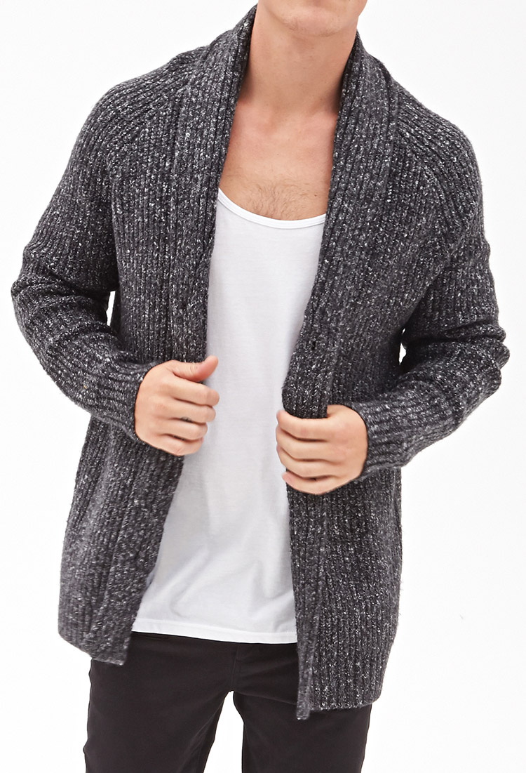 Forever 21 Cable Knit Cardigan in Gray for Men | Lyst