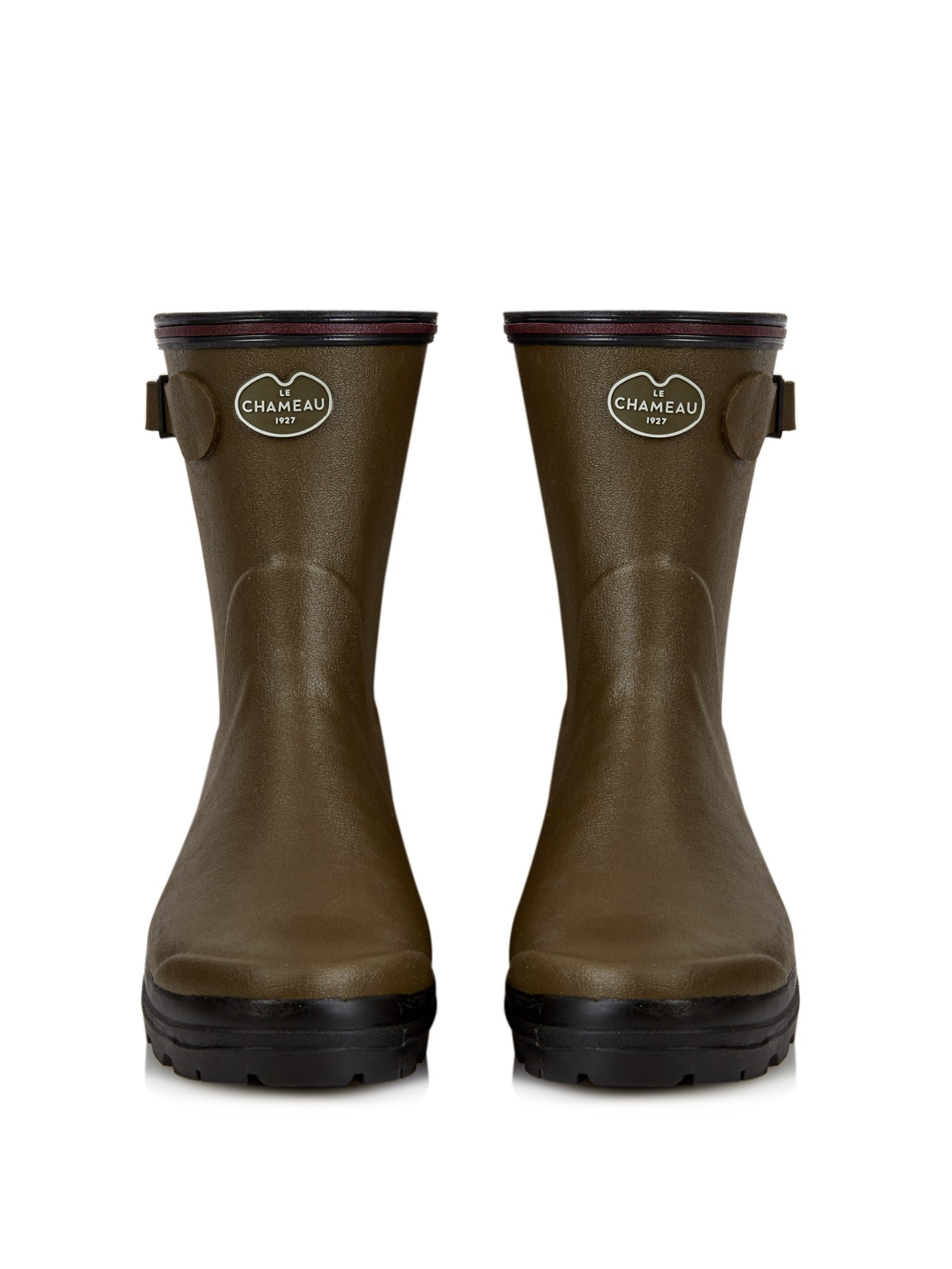 f43d1eef4 Le Chameau Giverny Low Rubber Boots in Green - Lyst