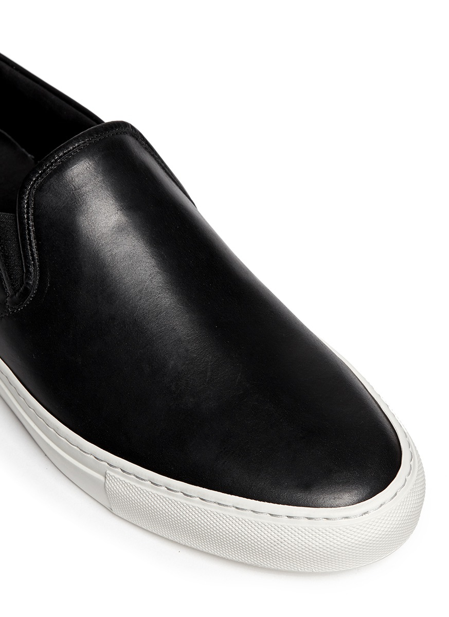 aa0885a6c3624 Lyst - Common Projects Leather Slip-On Sneakers in Black for Men