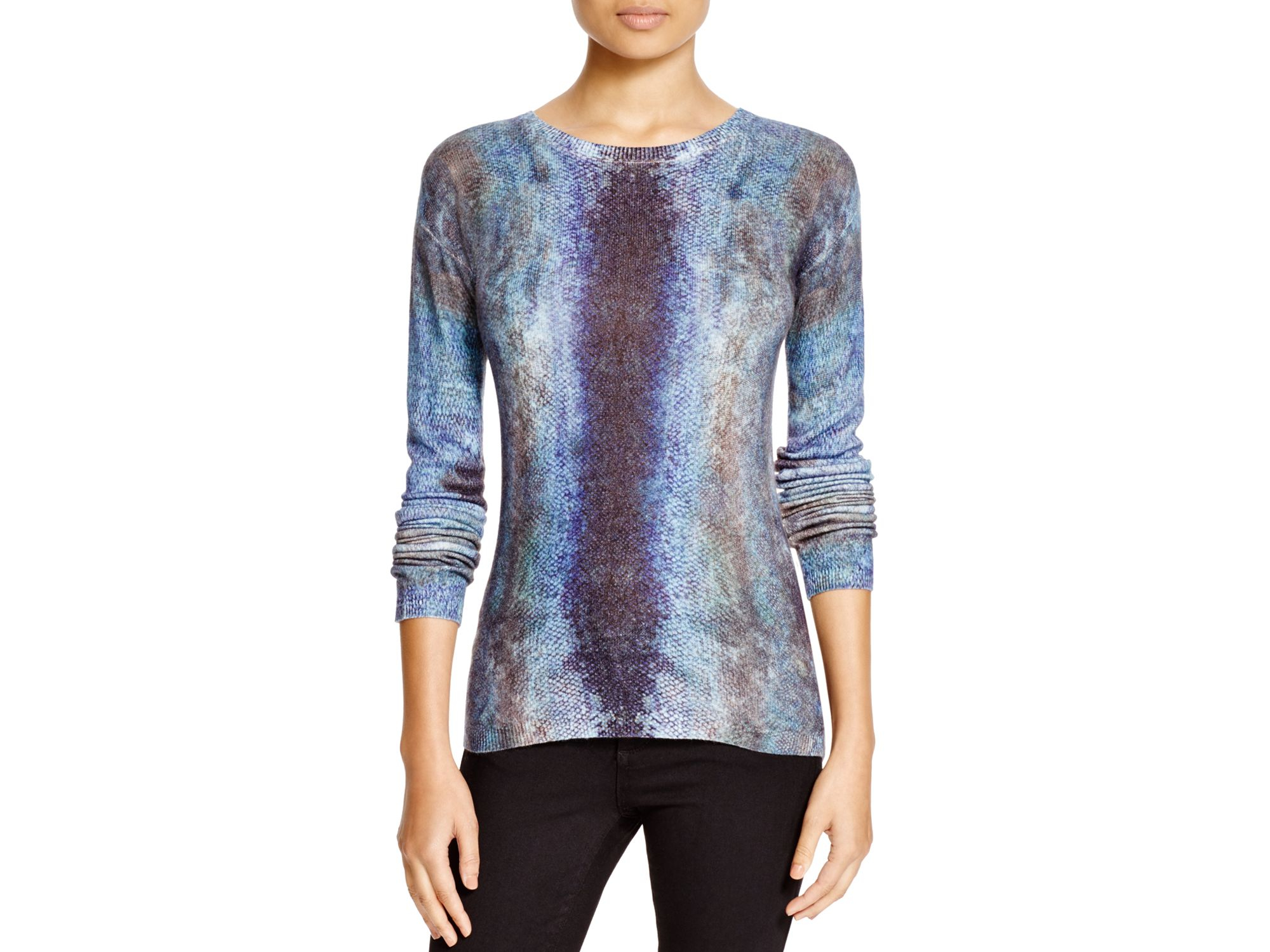 Magaschoni Animal-patterned Cashmere Sweater in Blue | Lyst