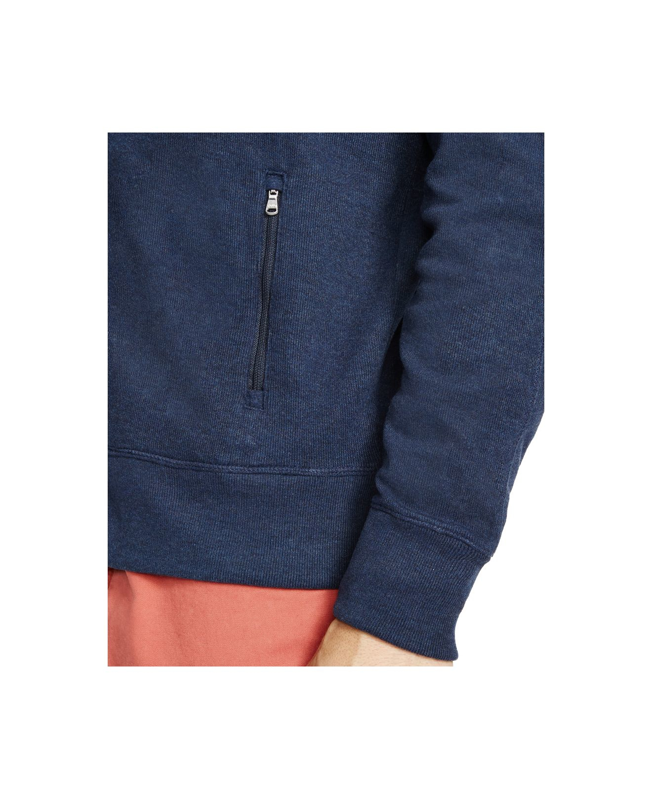 Polo ralph lauren French-rib Full-zip Hoodie in Blue for Men (Winter Navy) | Lyst